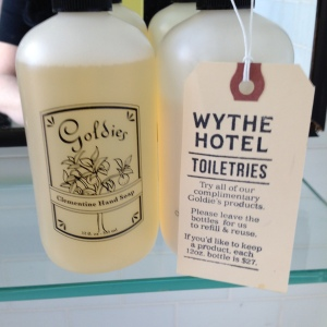 Wythe Hotel Toiletries