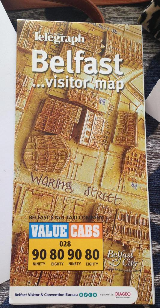 Belfast visitors map. Haven't been in 12 years