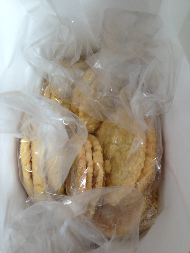 Corn cookies for Roman and his crew buddies