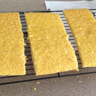 Genoise cut into rectangles