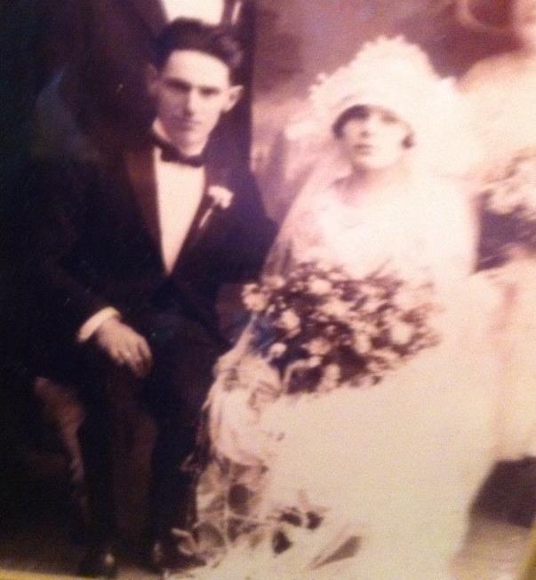 grandma and grandpas wedding pic