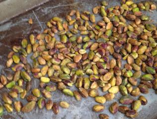 Roasted Pistachios Out of the Ovoen