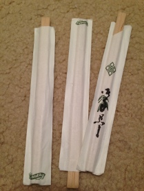 Three sets of chopsticks. You never know when i will need them to put my hair up or eat