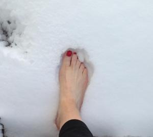 Yes. I went outside barefoot