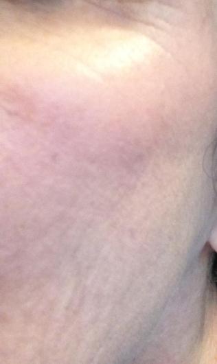 bb cream blush on my cheek nice finish