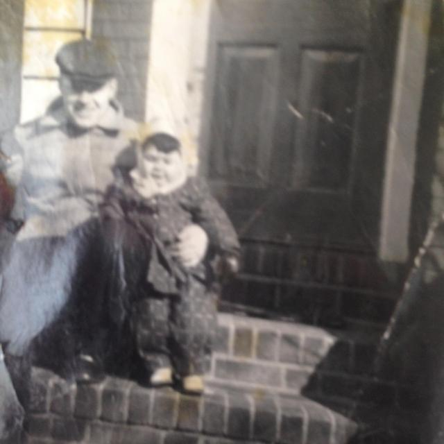 Daddy and Me 1956 or 1957. I LOVE my ensemble. What a chubby little face