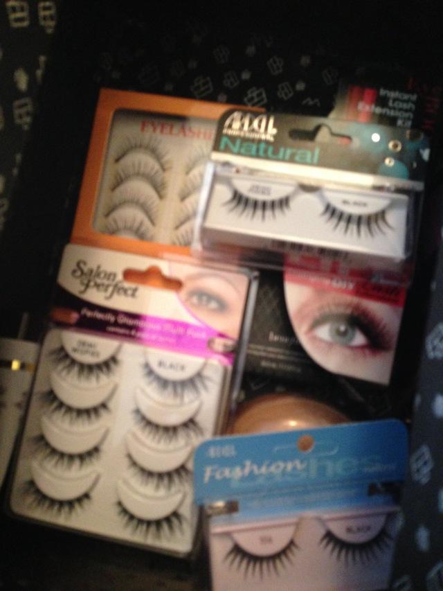 Eyelash assortment. Many to chose from