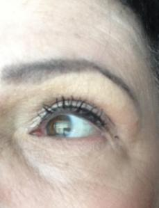 Eyes done just mascara a bit of liner and that god-awful yellow highlighter
