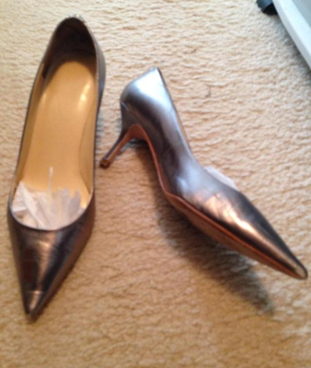 Ivanka Trump metallics. I really take care of these. I stuff them with tissue.
