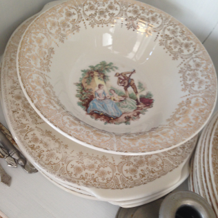 more plates from red whyite and blue
