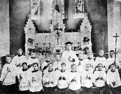 old school altar boys