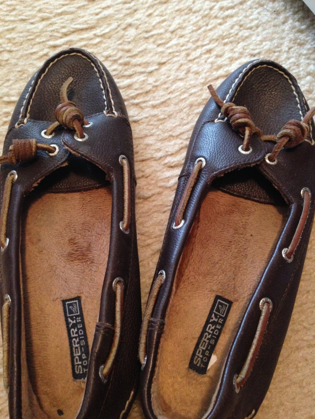 Sperry slippers that I wear as regular shoes!
