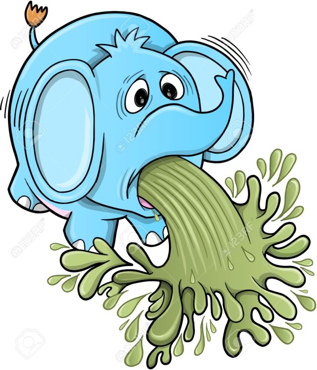 16210291-Barfing-Vomiting-Elephant--Stock-Vector
