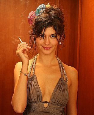 Audrey Tatou. Skinny as all get out. Smoking keeps her that way.