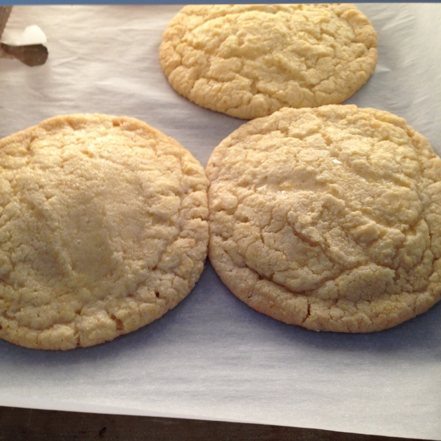 Corn cookies. A perfect batch
