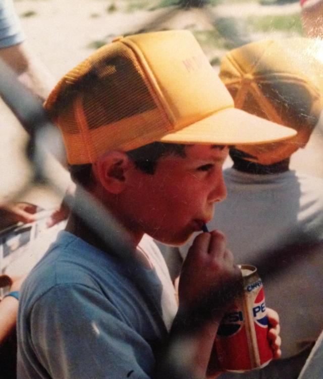 Jake with soda Little League
