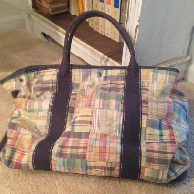 my favorite beach bag..and can be used as a weekender. It holds a ton of stuff!