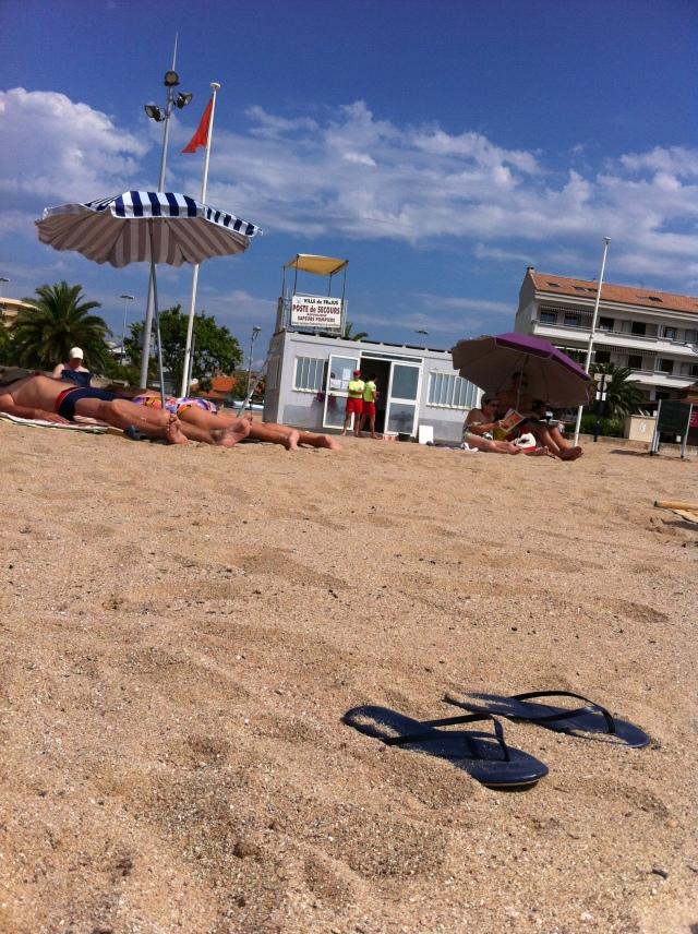 Cote d' Azur Flip Flops at Frejus beach