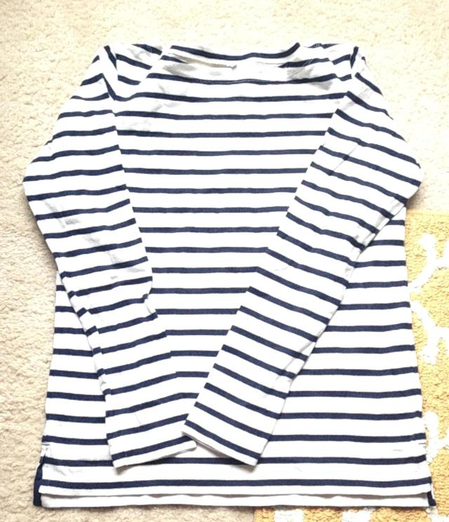 stripped uniqlo shirt.