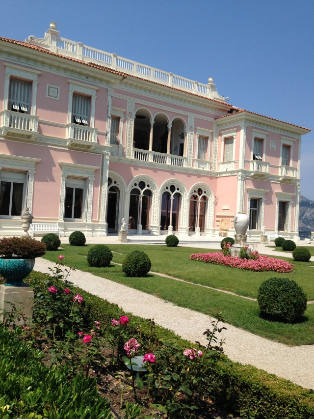 Cap Ferrat View of back of Rothschild maison.