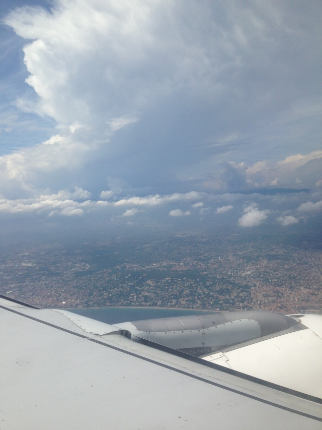 Cote d'Azur in full view ready for landing in Nice!