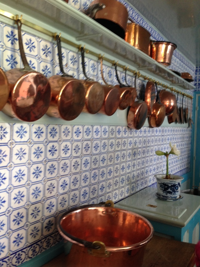 Giverny. Copper pots and pans. Im jealous.