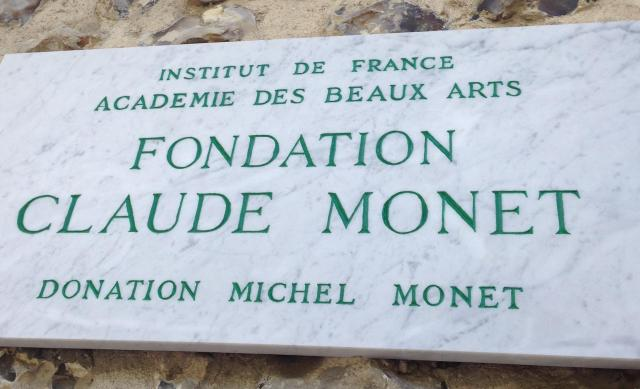 Giverny. Fondation claude monet sign.