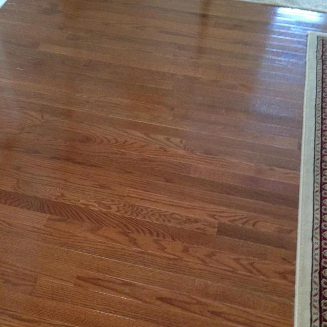 Hardwood in the dining room