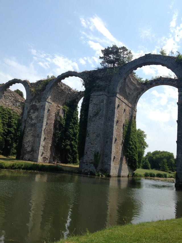 Maintenon. View of aqueduct from my phone.