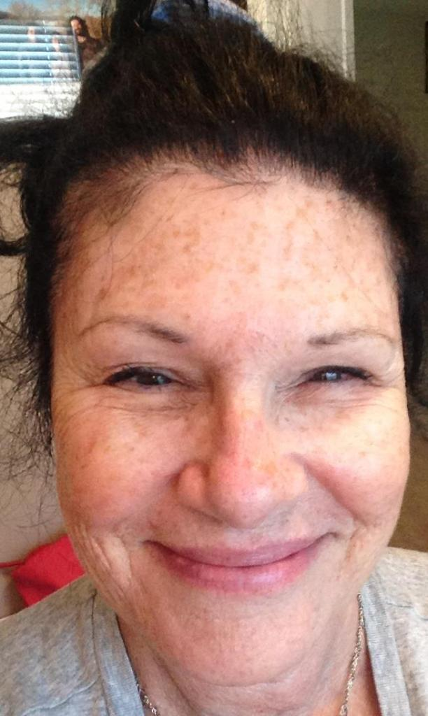 Me. Wrinkles, Ripples and freckles. NO MAKEUP