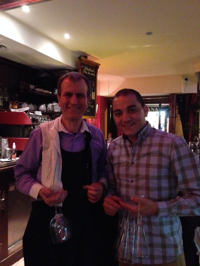 Paris. Bistro St. Andre. Bernard and fellow worker!