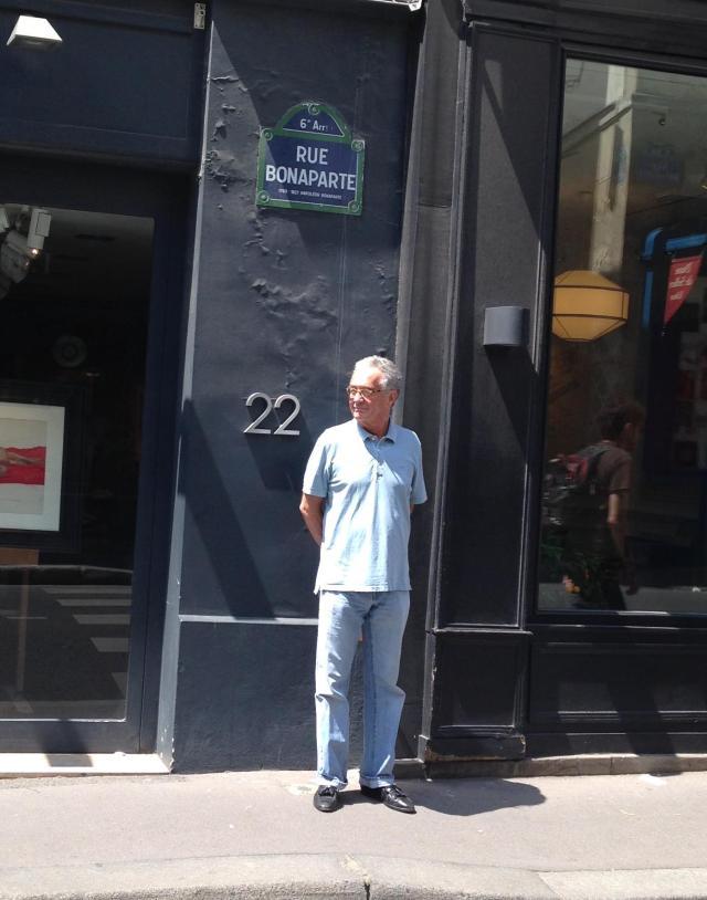 Paris. Bonaparte. On Rue Bonaparte.