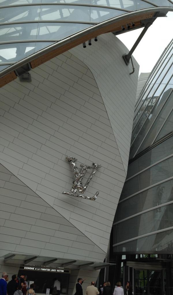 Paris. Fondation LV. Better view of the LV letters