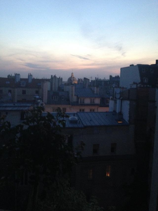 Paris. Last Night.  Daniele's apartment. View from salon window. Bye bye Paris. Next year!