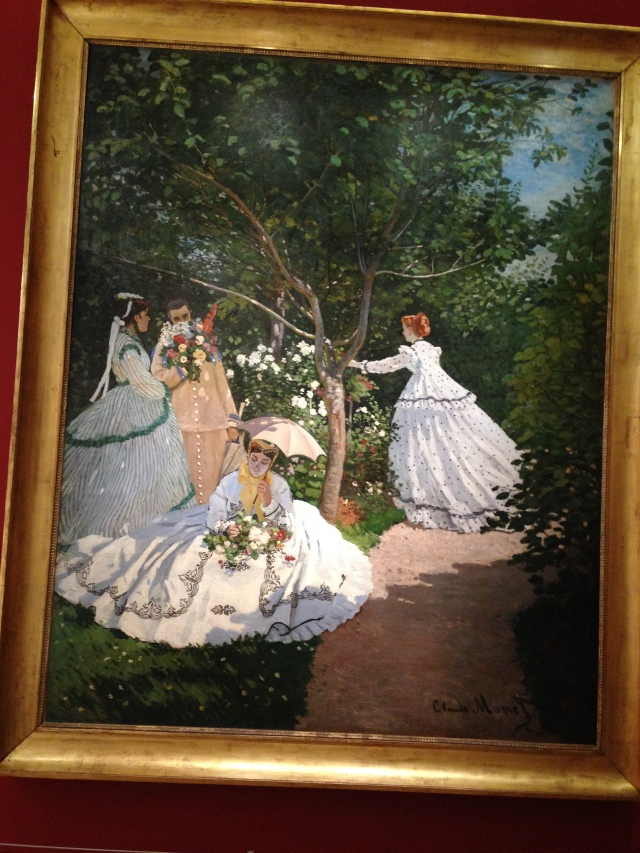Paris. Orsay. Claude Monet painting