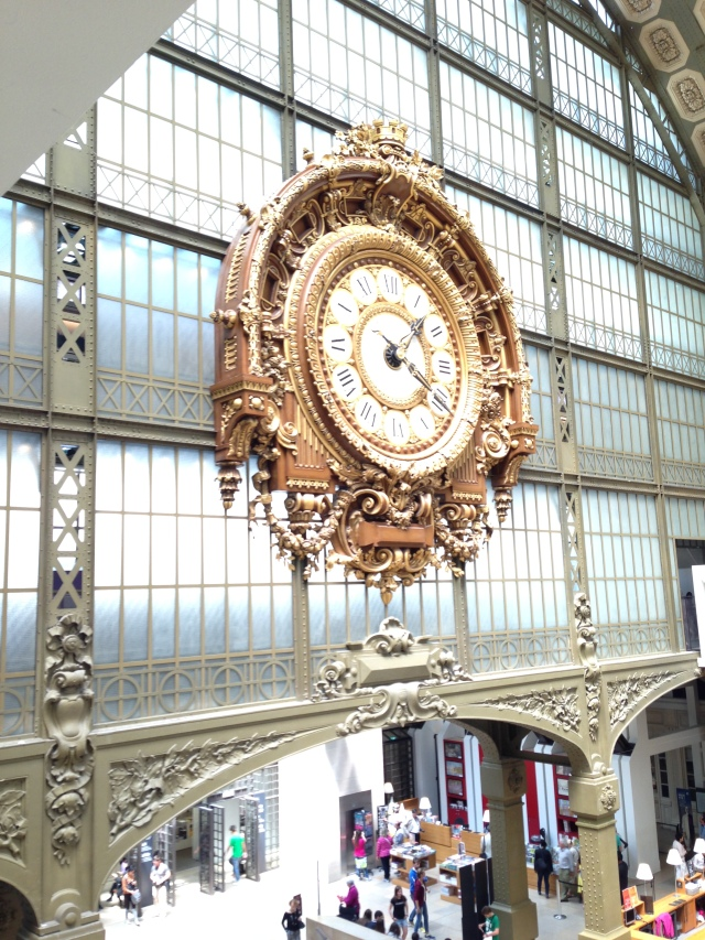 Paris. Orsay. Clock shiny and bright