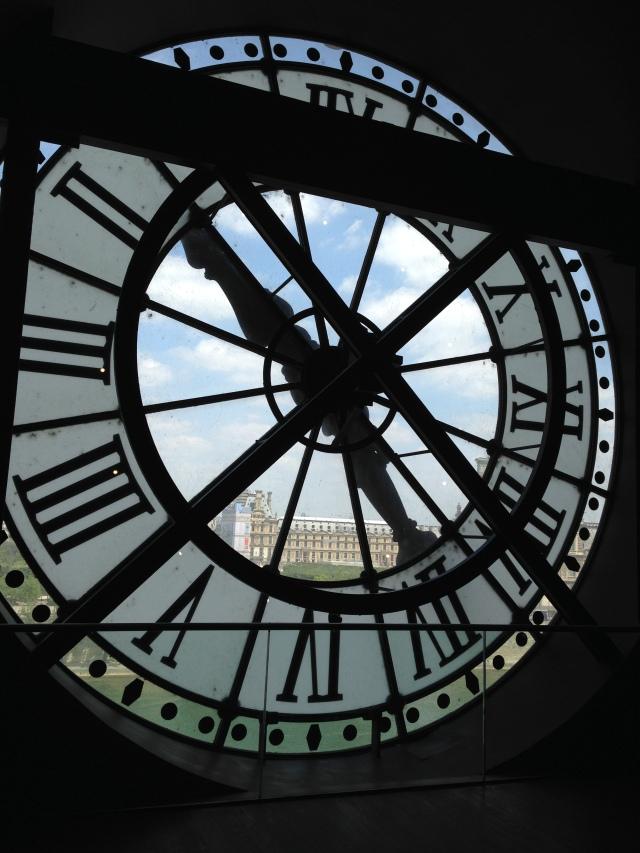 Paris. Orsay. Huge pic of clock.