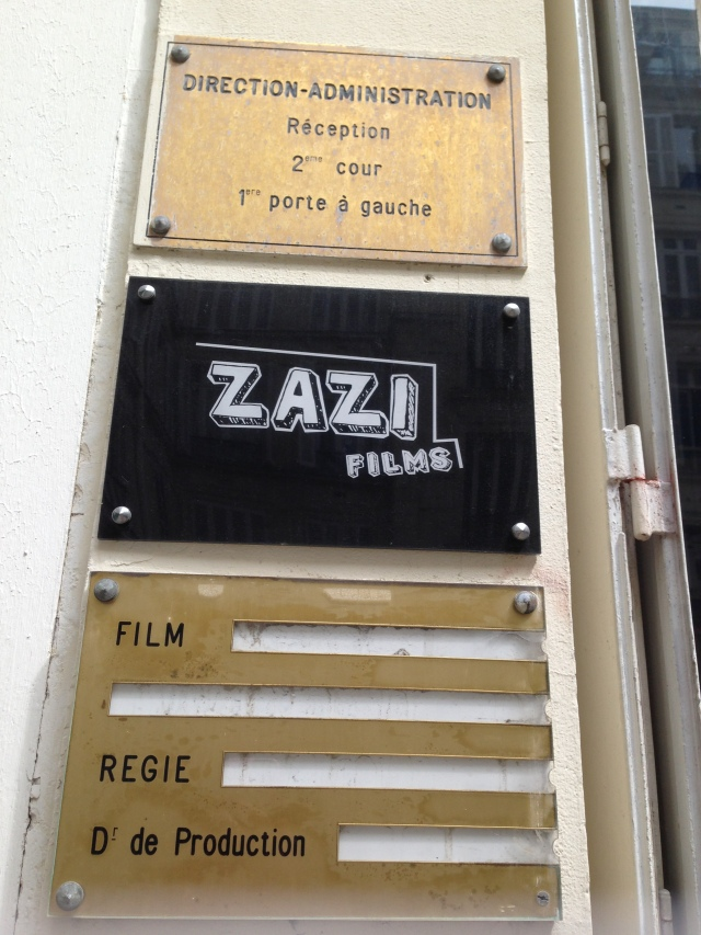 Paris. Zazi Films. Dropping Daniele off at the bureau.