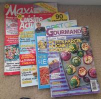 Shopping. Food Magazines to translate 1