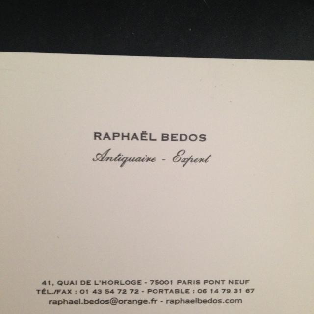 Shopping. Raphael Bedos Business Card.