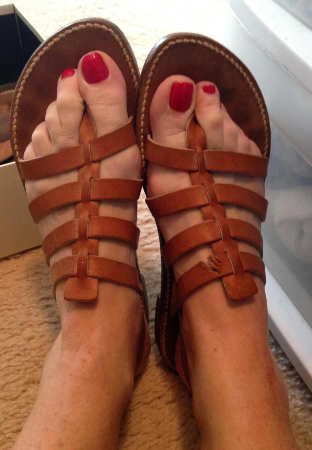 Shopping. Rondini Sandals Damaged
