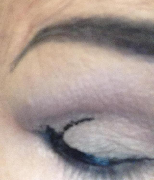 Smudged liquid liner. Back to the drawing board and the kitchen