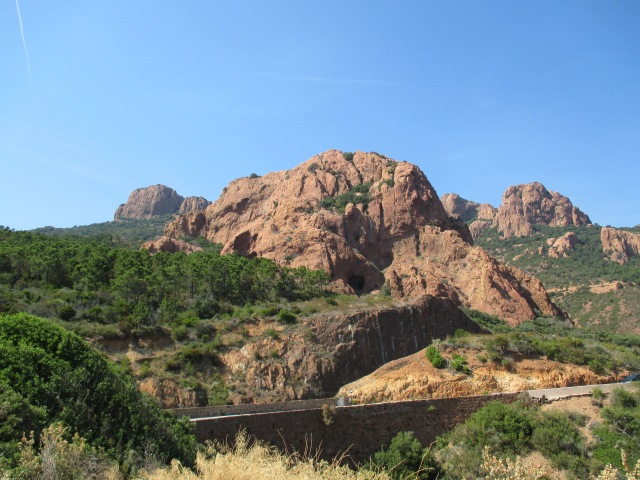 St. Trop. On the way. Effing L'Esterel is beautiful