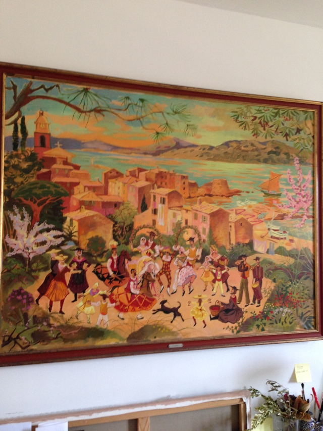 St. Tropez. Dany's Room..and a beautiful painting.
