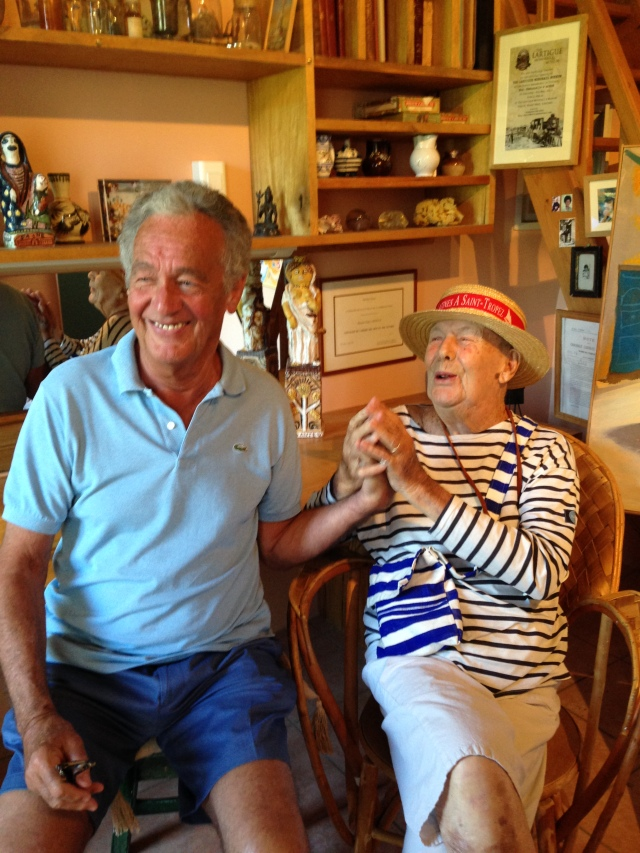 St. Tropez. La Maison Des Papillion. Father and son enjoying each other!