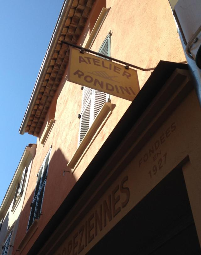 St. Tropez. The Great Rondini Store! Outside sign.