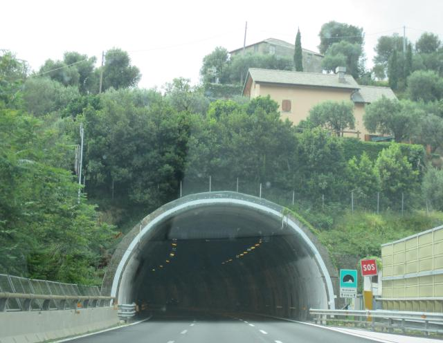 Theoule. En Route to Italy. One of the many gazillion tunnels