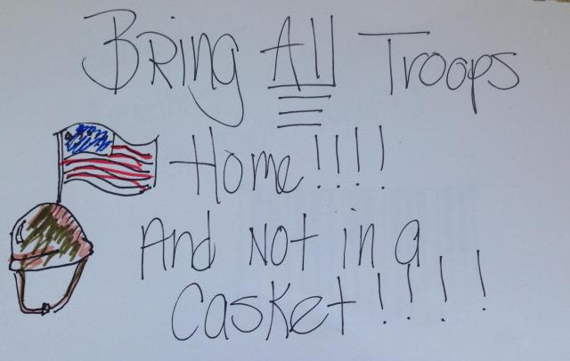 bring troops home poster