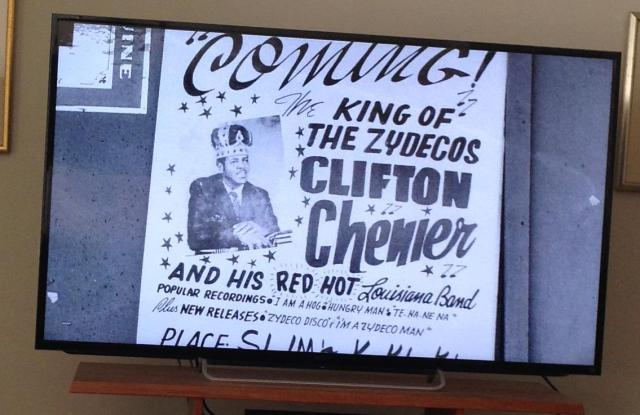 Clifton Chenier ad.