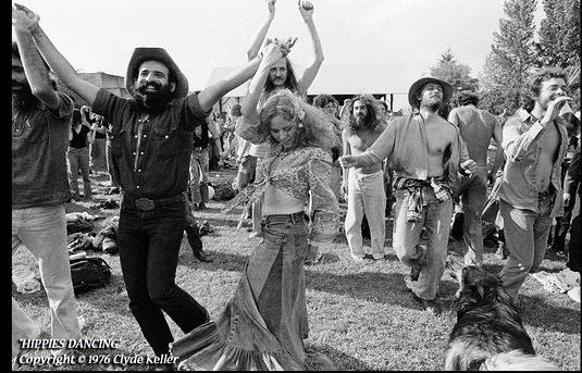 Clyde Keller Hippies Dancing